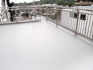 外壁・屋根リフォーム 開放感のある防水仕様の屋上